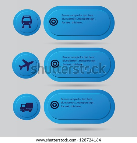 Transport sign,blank for text,vector - stock vector