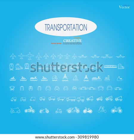 transport sketch.Transport icons.transportation .logistics.logistic icon.vector illustration.