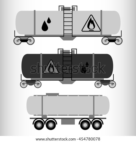 Transport truck icons set. - stock vector