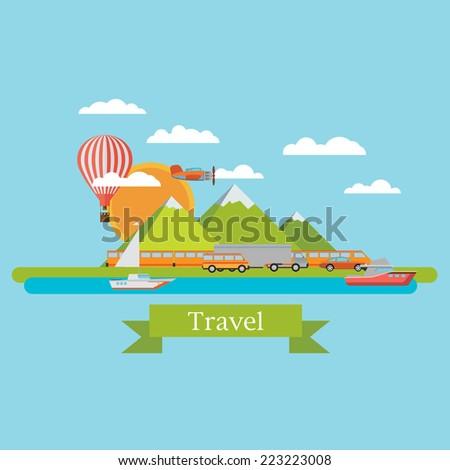 transport vector background - stock vector