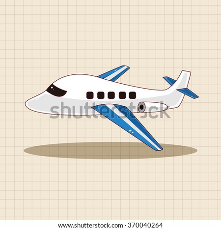 transportation airplane theme elements - stock vector