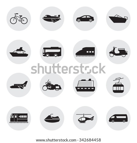 Transportation and Vehicles icons - stock vector
