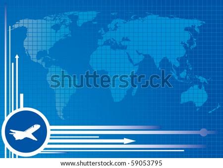Transportation background. Vector illustration - stock vector