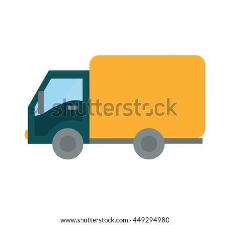 Transportation concept represented by Truck icon. isolated and flat illustration