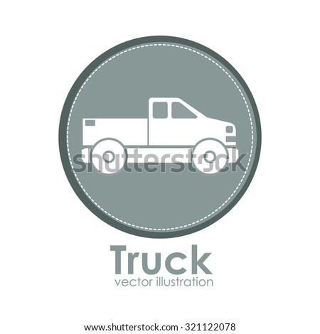 Transportation  concept with vehicle icons design, vector illustration eps 10 - stock vector
