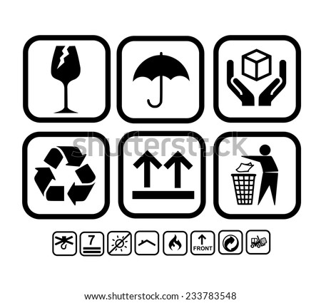 Transportation, delivery icon set vector - stock vector