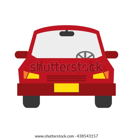 transportation design. car icon. Flat and isolated illustration