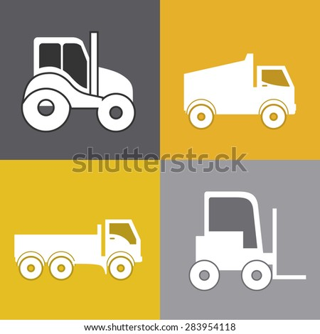 Transportation design over colored background, vector illustration - stock vector