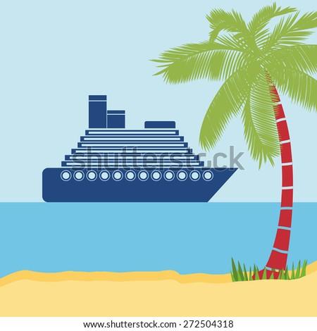 Transportation design over landscaped background, vector illustration - stock vector