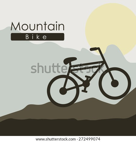 Transportation design over mountain background, vector illustration - stock vector