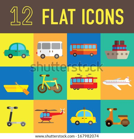 transportation flat icon - stock vector
