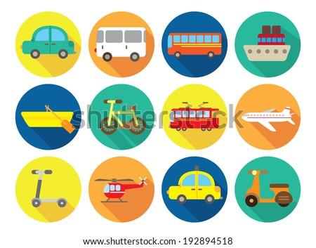 transportation flat icon - stock vector