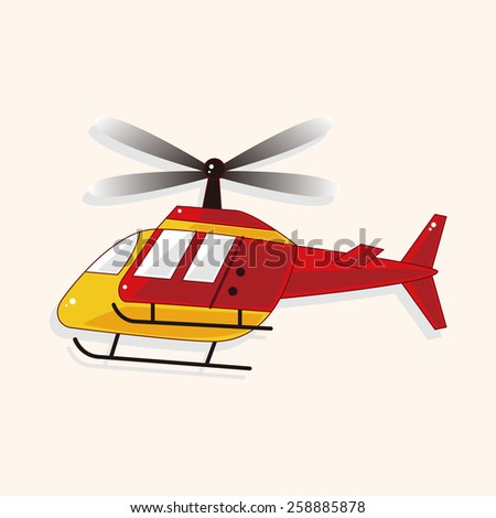 transportation Helicopters theme elements - stock vector