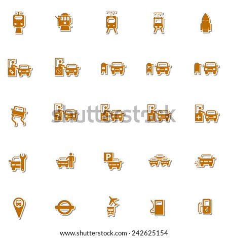 Transportation icon set 5 - stock vector