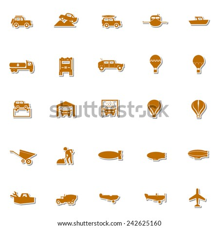 Transportation icon set 2 - stock vector