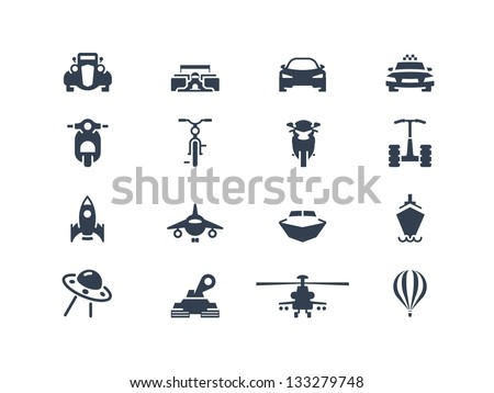Transportation icons 2 - stock vector