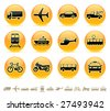Transportation icons buttons vector set - stock photo