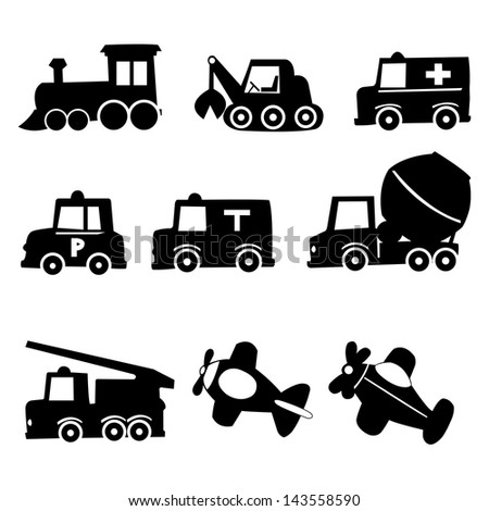 Transportation Icons Set, Vector Illustration EPS 10. - stock vector