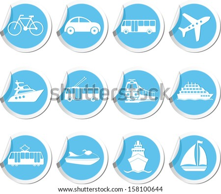 Transportation icons. Vector illustration. - stock vector