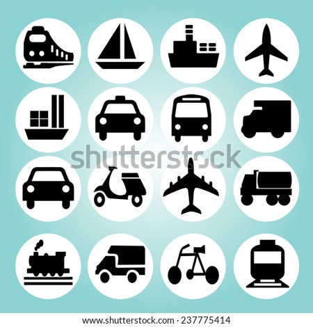 Transportation icons vector,logistic icon vector - stock vector
