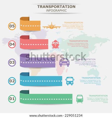 Transportation info graphic - stock vector