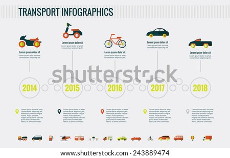 Transportation Infographic Elements. - stock vector