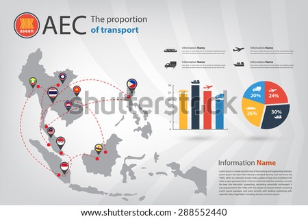 transportation infographic in vector style eps10 - stock vector