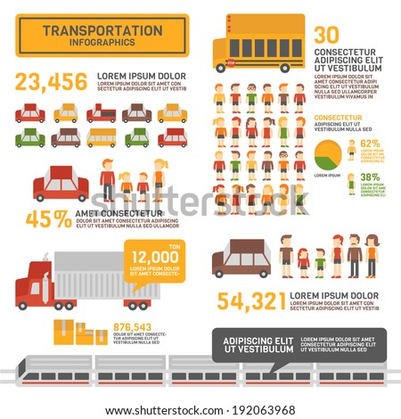 Transportation Infographics - stock vector