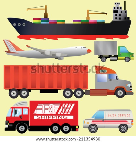 transportation picture - stock vector