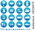 Transportation progress icons - stock vector