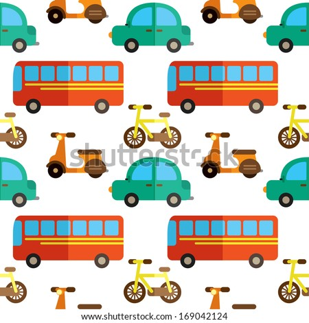 transportation seamless background