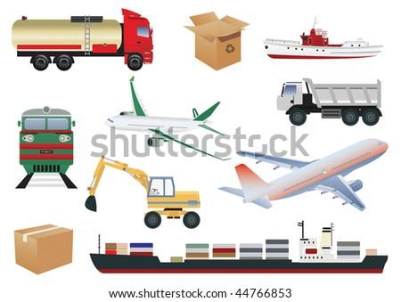 Transportation set. Vector illustration - stock vector