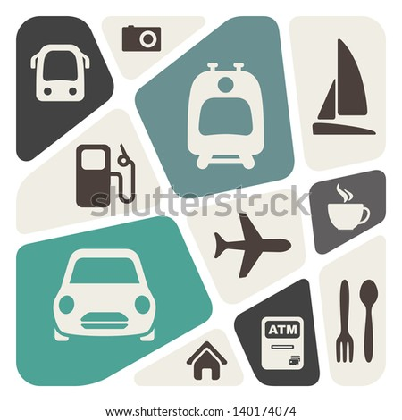 Transportation theme abstract background - stock vector