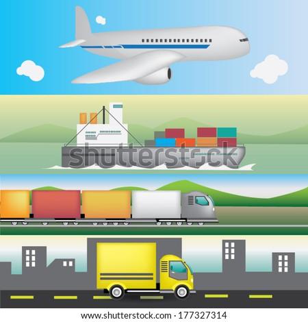 Transportation  vector - stock vector