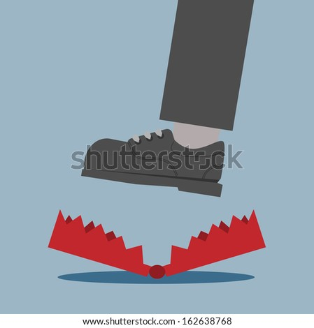 trap - stock vector