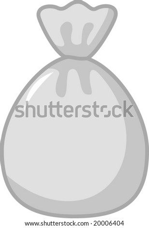 trash bag - stock vector