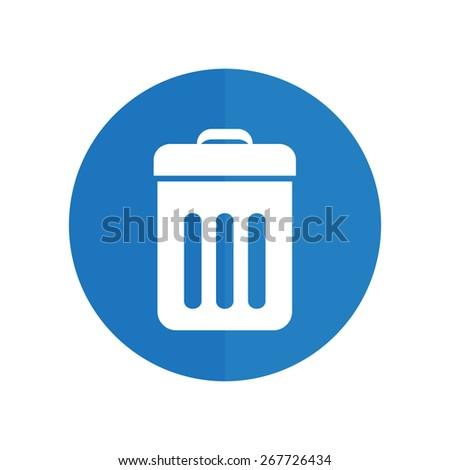 Trash bin icon vector. eps 10. - stock vector