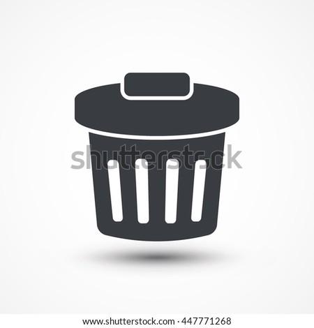 Trash bin icon vector. Eps10, JPEG, Picture, Image, Logo, Sign, Design, Flat, App, UI, Web, Art, Vector, Solid Style - stock vector