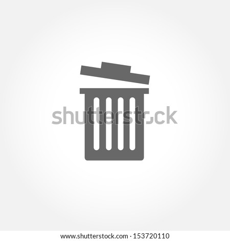 Trash bin vector icon - stock vector