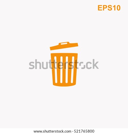 trash bin icon vector design stock vector 583615138