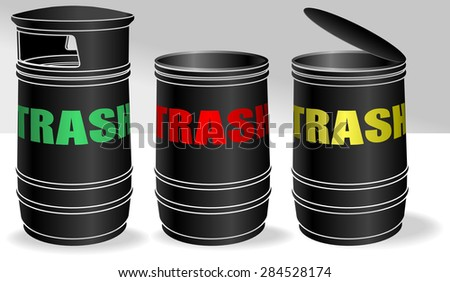 Trash bins - stock vector