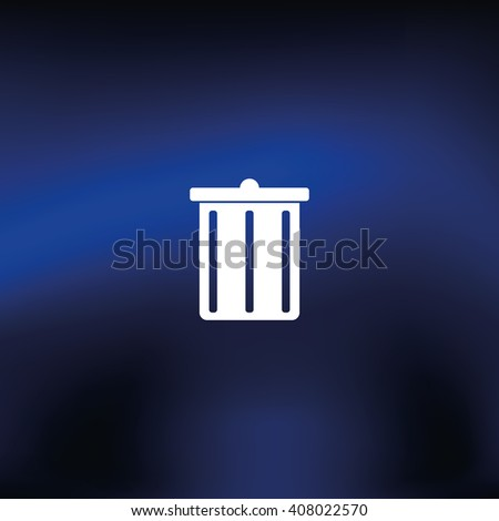 Trash bucket icon. Bin illustration. - stock vector