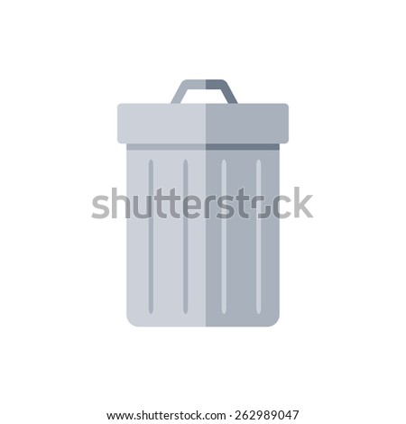 Trash can. Delete symbol. Isolated icon pictogram. Eps 10 vector illustration.