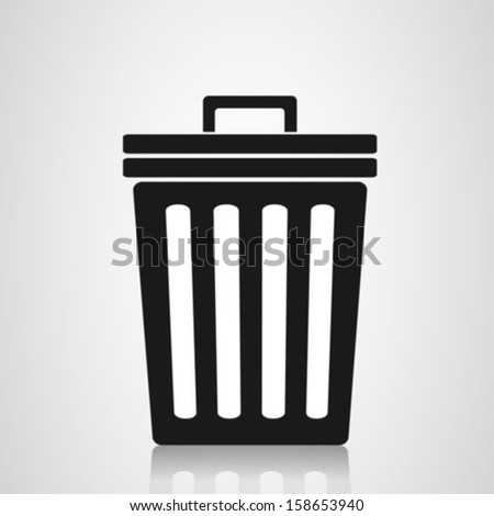 Trash can symbol - stock vector