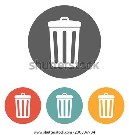 trash icon - stock vector