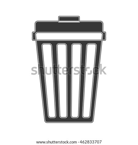 trash recycle organic ecology icon. Isolated and flat illustration. Vector graphic