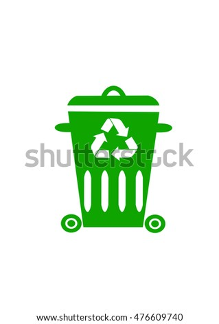 trash recycling icon, sign
