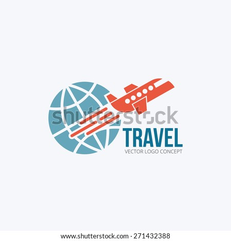 Travel and Tourism concept. Flat design. Vector Illustration. Logo - stock vector