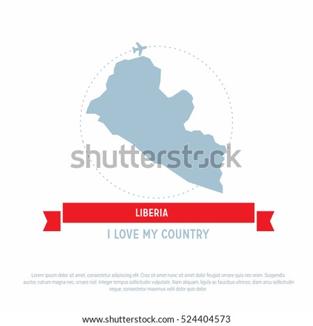 Travel around liberia country map ribbon stock vector 524404573 travel around the liberia country map ribbon banner with map and airplane template vector illustration freerunsca Gallery
