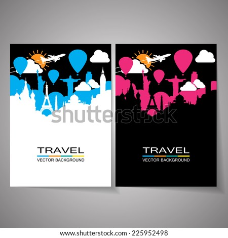 Travel around the world - stock vector